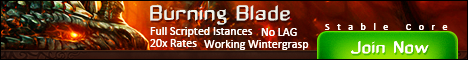 Burning Blade - 3.3.5 Private Server 20x